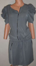 WOW sexy Boho Mini Kleid grau tolle details 3Suisses Gr.38