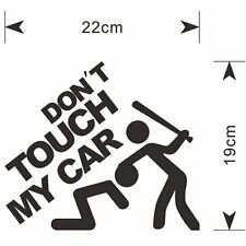 "Window Words ""Don't Touch My Car"" Vinyl Decal Stickers Car SUV Black Rear Cheap"
