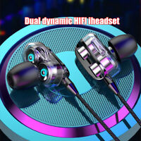 HIFI Super Bass Headset Dual Drivers Earphone Headphone Earbuds w/ Mic Surprise