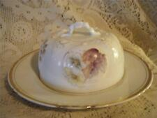 Vntg!Antq Ornate Hand-Painted Porcelain Germany Domed Covered Butter Cheese Dish