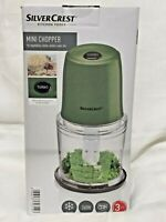 SilverCrest Mini Chopper Vegetables Nuts Crumble Ice Crush 300ml 260W Green New