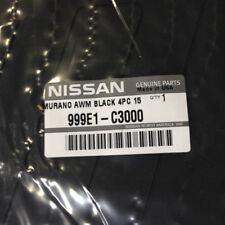 2015-2018 Nissan Murano All Season Black Rubber Floor Mats Set Genuine New OEM