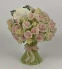 Seraphim Classics Flower Bouquet Thank You Gift Angel Pink Roses Roman Figurine