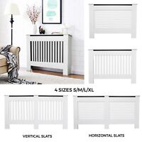 Radiator Cover White Modern Traditional Wood Grill Cabinet Horizontal Vertical
