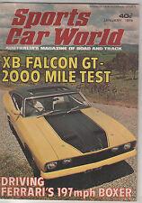 Sports Car World 1974 Jan Falcon XB GT Birrana 273 Ferrari Berlinetta Boxer Sunb