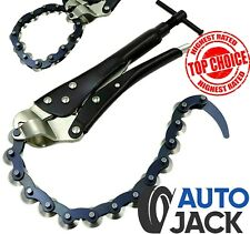 Exhaust Pipe Tube Cutter with 14 Cutting Wheels Universal Cutting Chain Tool