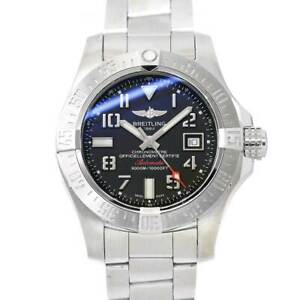 BREITLING Avenger II Sea Wolf A17331 Date Automatic Black Dial Mens 90116178