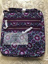 New Vera Bradley Triple Zip Hipster Bag Lilac Medallion