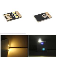 Delgado Móvil 2PCS USB Mini Led Luz De Noche Bolsillo Tarjeta Lámpara Hot Sale !