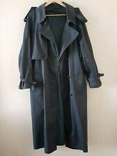 BHS Khaki/Green Trench Long Vintage Coat Lined Jacket UK Size 18