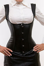 Business Look: rindnappaleder sous poitrine corset, underbust corset, Cincher
