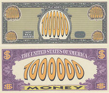 Play Money $1,000,000 Novelty Money Bill # 199
