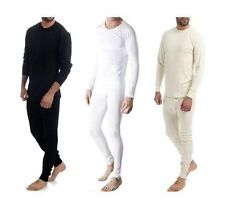 2 Pieces Men's Improved Quality 100% Pure Cotton Thermal Top & Long John