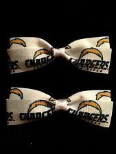 Chargers Hair Bows with Alligator Clips