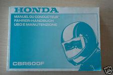 00X37-MV9-8200 Manual Del Propietario Honda CBR600F