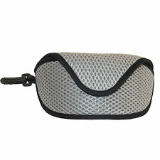 PADDED GLASSES CASE SUNGLASSES HOLDER CARRY CLIP UNISEX TRAVEL HOLIDAY SPORTS