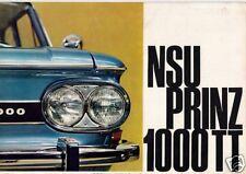 NSU Prinz 1000 TT 1965-67 UK Market Foldout Sales Brochure