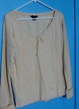 Womens Top Moda International small 100% Cotton shirt.  Long sleeve nwot Casual