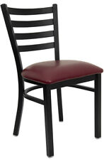 RESTAURANT METAL CHAIRS VINYL PADDED SEAT LIFETIME FRAME WARRANTY