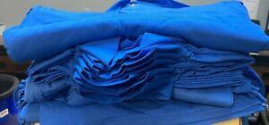 42 Gildan Polo Golf BLUE LIQUIDATION LOT Blank Bulk 8800 DryBlend 2 BUTTON SMALL