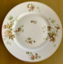 Haviland France Limoges AUTUMN LEAF-GOLD TRIM Salad Plate 7 1/2""