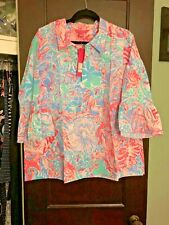 NWT Lilly Pulitzer Ginger Top Blue Peri Viva La Lilly XL