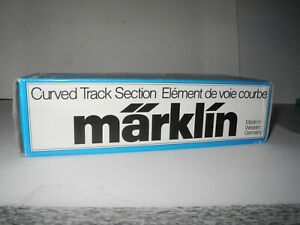 MARKLIN TRAINS 1:87 SCALE BOX OF 10 CURVED M TRACKS 5100 NEW MINT BOXED