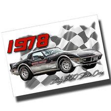 1978 Chevrolet Corvette Indy 500 Pace Car 8x12 Inch Aluminum Sign