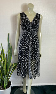 All Saints Allsaints Dress Black White Brand New With Tags Size 12 RRP £188