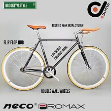BK DUMA Single Speed Urban Fixed Gear Lightweight Road Bike Black Orange Yellow