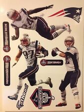 1Patriots FATHEAD 2015 Super Bowl Champions XLIX Set TOM BRADY ROB GRONKOWSKI ++