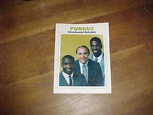 1985 Purdue Boilermakers Basketball Media Guide