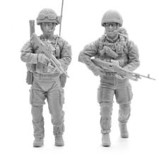 1:35 1/35 soldados moderno ejército británico Resin Figure MODEL KIT (2 Figuras)