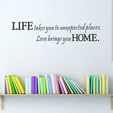 Life Takes You To Unexpected Places Quote Wall Sticker Removable Wall Decal