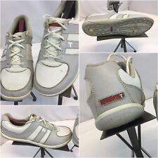 True Golf Shoes Sz 10 Men White Gray Leather Casual V1-0002-100 YGI J8S-3