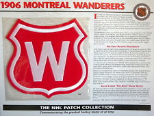 Willabee Ward ~ Nhl Throwback Hockey Patch & Info Card ~ 1906 Montreal Wanderers