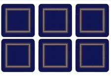 Pimpernel Coasters, Classic Midnight Blue, Pack of 6 (2010268184)