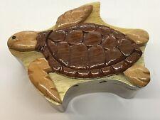 Hand Made Art Intarsia Wooden Jewelry / Trinket Puzzle Box