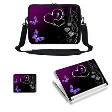 "13"" 13.3"" Laptop Sleeve Case w Shoulder Strap & Matching Skin Mouse Pad1810"