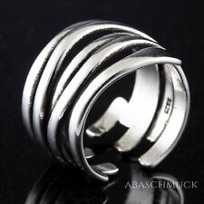 Silberring Silber 925 Ring  Verstellbar Offen Vintage R0710 ☄