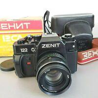 Camera ZENIT - 122 USSR Lens HELIOS 44-4
