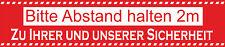 ab 1Stück Abstand´s Aufkleber 2m Corona Sicherheits Hinweiß Schilder  ca.50x10cm