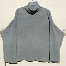 NWT Eskandar Bergdorf Goodman BLUE Handloomed Cashmere Cable Knit T/N Swtr $1890