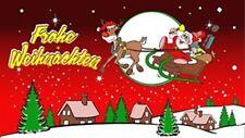 XXL Weihnachten fliegender Schlitten Weihnachtsmann Fahne Flagge 2,50x1,50m Neu