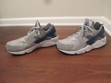Used Worn Size 14 Nike Air Huarache Shoes Gray, Silver, Dark Gray, Blue, White