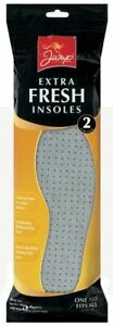 2 PAIRS ANTI ODOUR CHARCOAL LAYER INSOLES UNISEX ONE SIZE FITS ALL