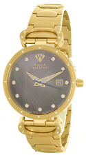 Aqua Master Womens Pearl Dial Gold Tone Stainless Steel Bracelet Watch W#359_1