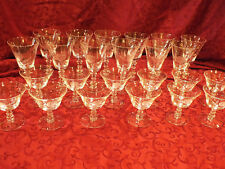 "Lot of 11 Vtg 1951-1973 Fostoria ""ROSE"" deep etched rose pattern Water Goblets"