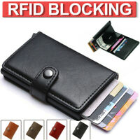 Men RFID Blocking Slim Wallet Leather Money Clip Credit Card ID Holder Purse