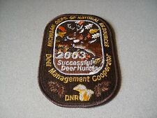 2003 MICHIGAN SUCCESSFUL DNR DEER HUNTING PATCH - BEAR - TURKEY - ELK